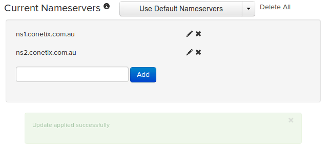 How to update your name server records