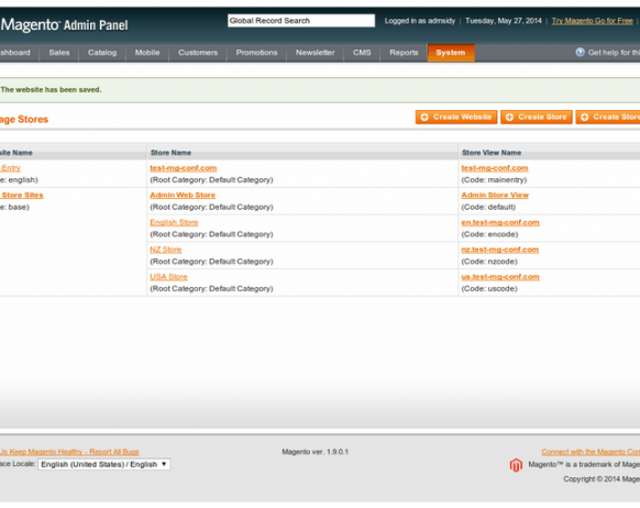 Magento - Configuring Multiple Store Views