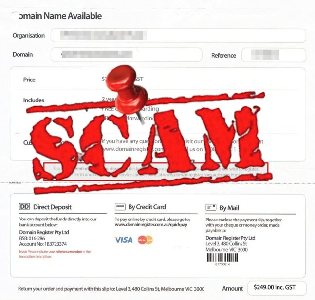 how to protect yourself from domain renewal scams