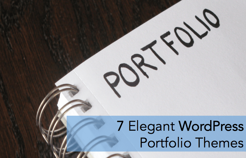 7 elegant wordpress portfolio themes