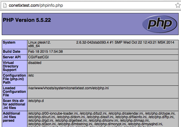 Php Info Screenshot