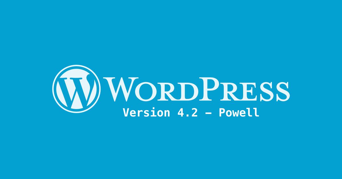 wordpress 4.2: what's new