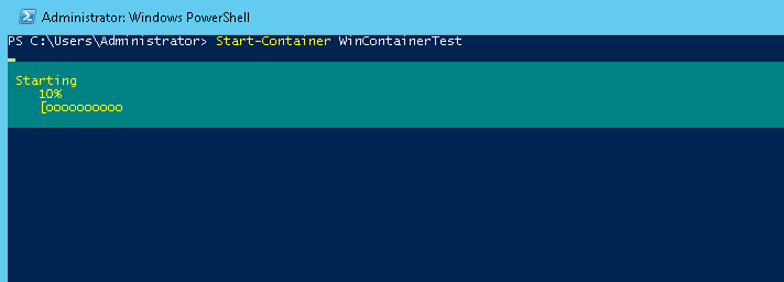 Windows 2016 - Start Container