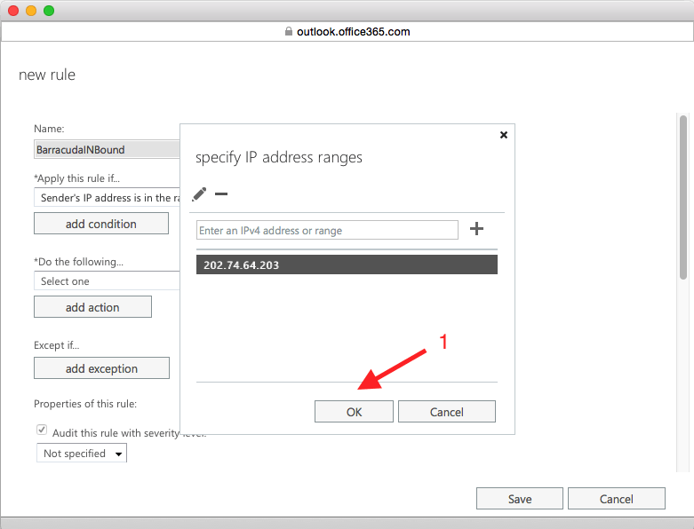 add ip address ok in office 365