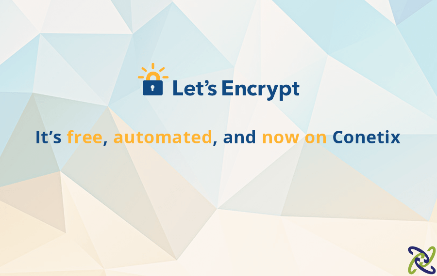Let's Encrypt FREE certificates now available on all Conetix Hosting