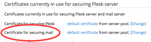 What's new Plesk Onyx: Secure Mail Server with SSL/TLS