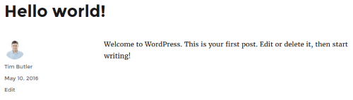 WordPress - Updated Display Name