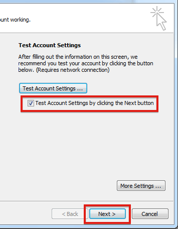 Enabling Authentication in Outlook