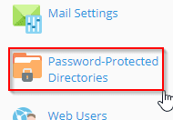 add a password protected directory in plesk onyx