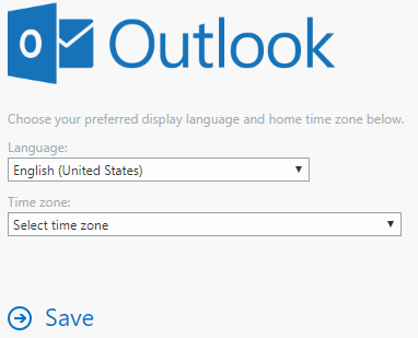 office 365 - outlook.com - set timezone