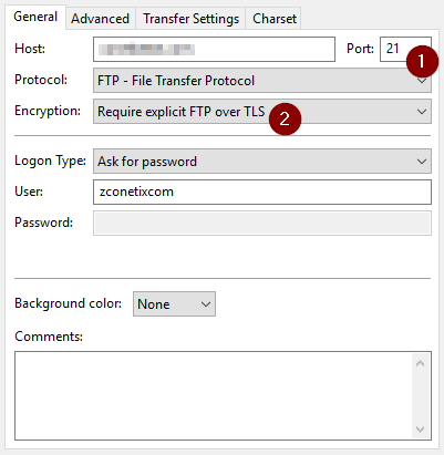 accessing ftp securely in plesk