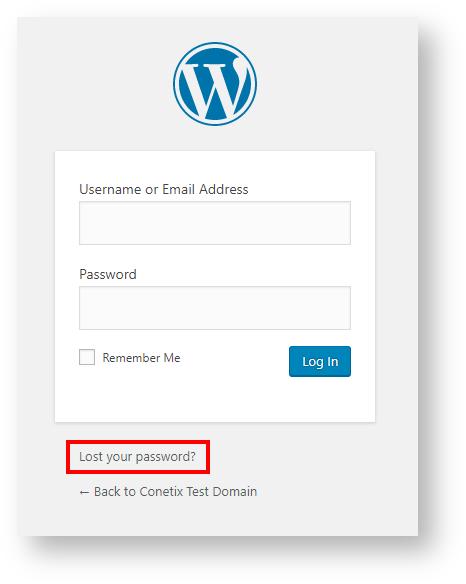 reset your wordpress password
