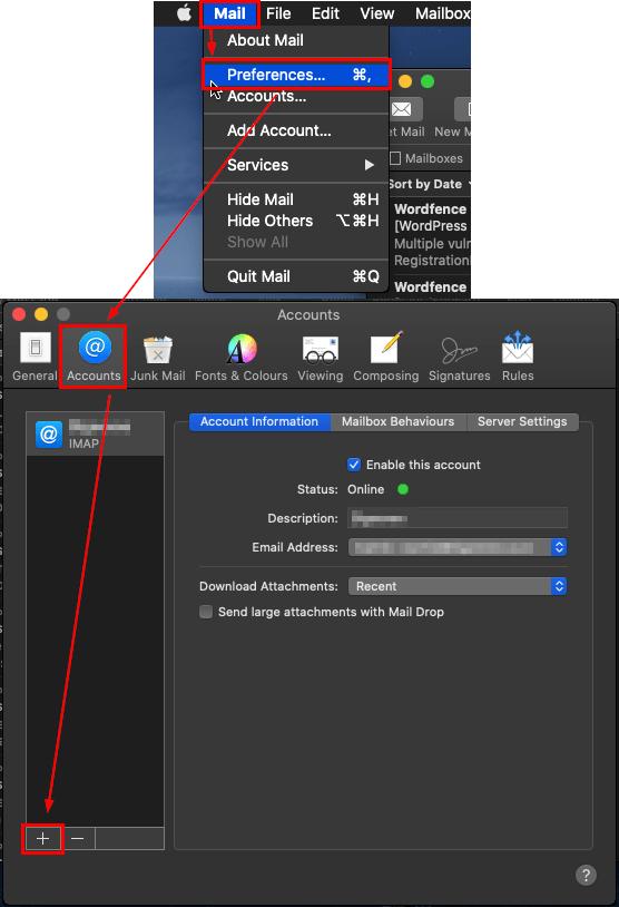 Setup IMAP/POP Email Account in Mac Mail