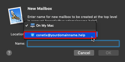 Create or Delete Mailboxes in Apple Mail