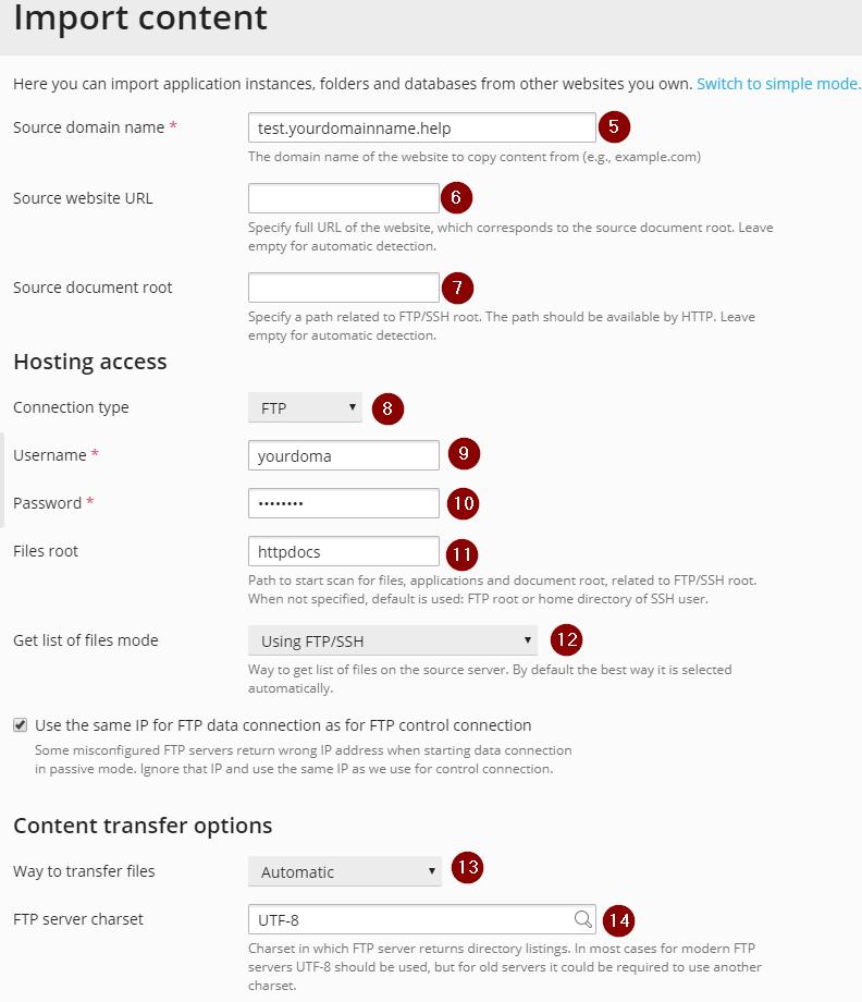 Migrating Websites to Conetix using Plesk Site Migrator