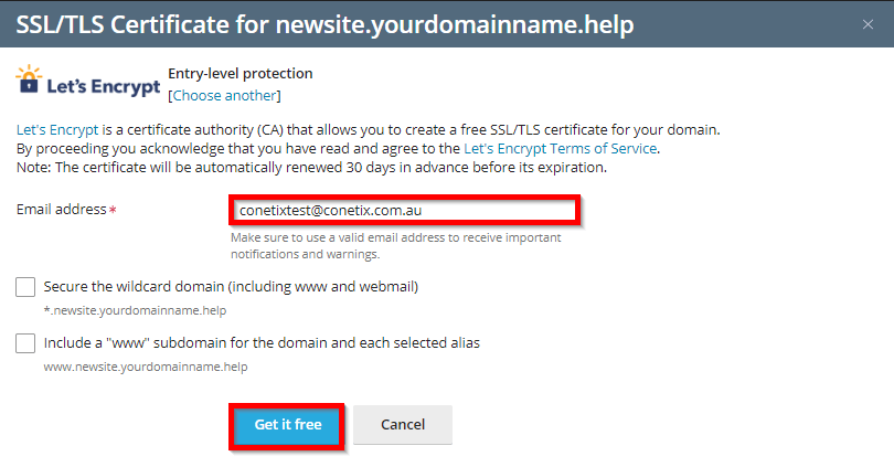 Create a Sub-Domain through Plesk