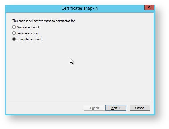 Installing a PFX Certificate on a Windows Server