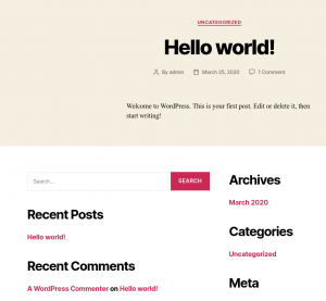 WordPress - Hello World!