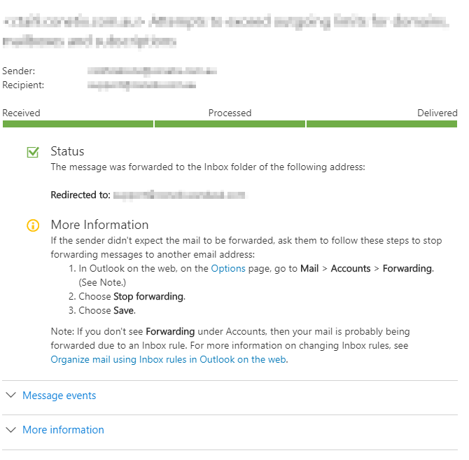 viewing microsoft 365 message traces