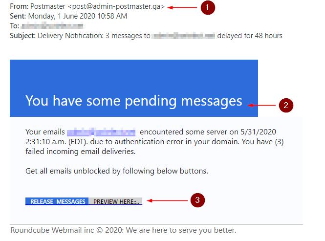 """Suspicious """"Roundcube"""" Phishing Emails"""
