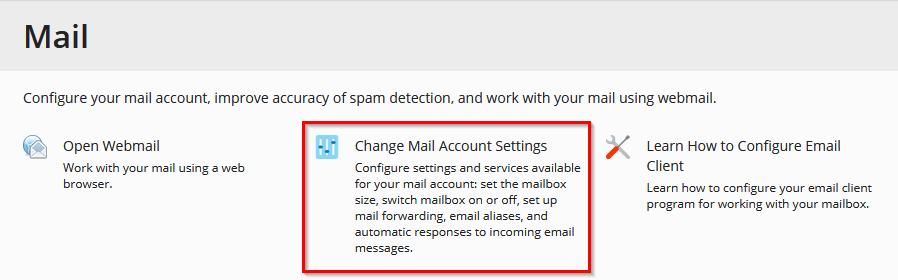 configuring forwarding for email users
