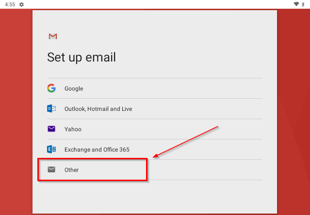 setting up mail in gmail app