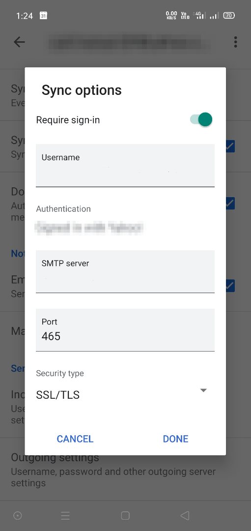 modify gmail app account settings