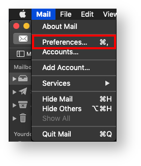 modify email account settings in mac mail