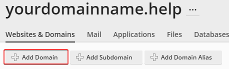 how to add a domain to plesk
