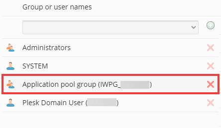 setting windows folder / file permissions in plesk