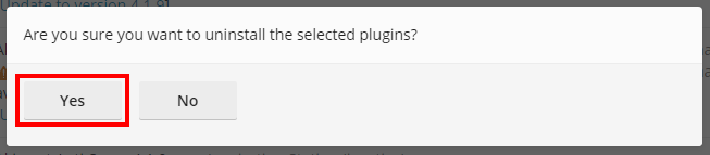 uninstall plugin 1