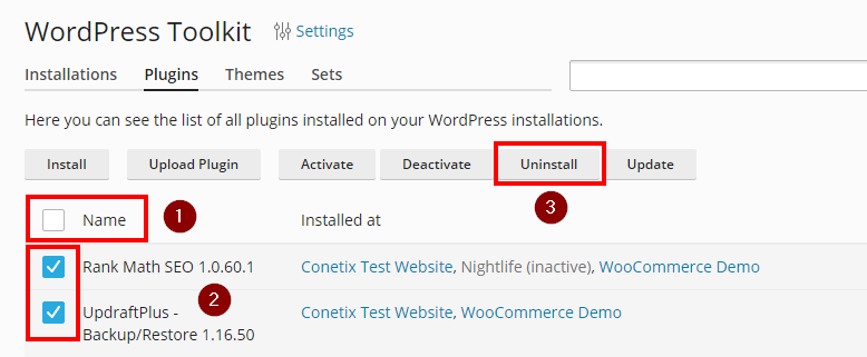 uninstall plugin