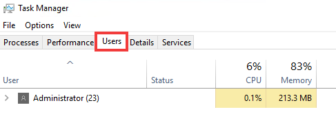 how to force a user sign out on a windows server