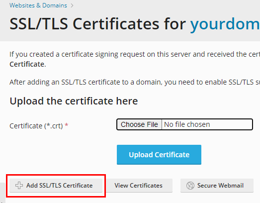 how to install a paid ssl certificate