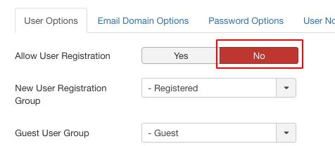 joomla registration spam