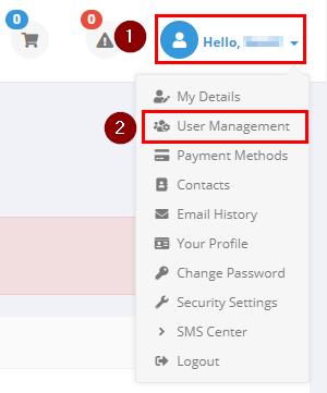 conetix control panel: add a new user