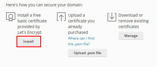 plesk obsidian - how to install a free let's encrypt ssl