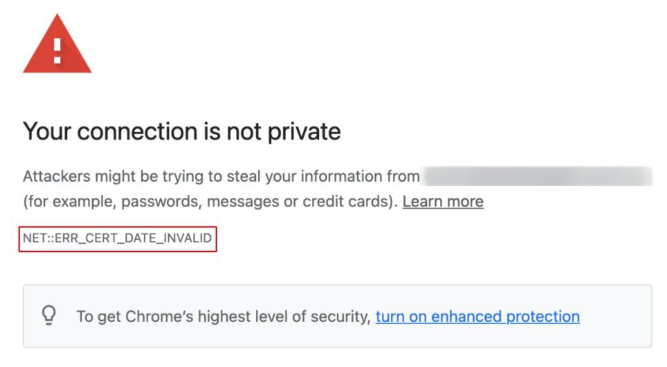 let's encrypt certificate secured website displaying err_cert_date_invalid